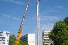 Монтаж на пилон за осветление - стадион Тича гр. Варна